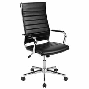 Flash Furniture High Back Black LeatherSoft Contemporary Ribbed Executive Swivel Office Chair for $238