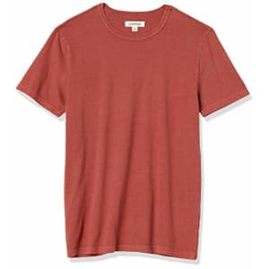 Amazon Brand - Goodthreads Men's Heritage Wash Short-Sleeve Crewneck T-Shirt, Red, X-Small for $16