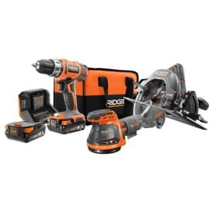 Ridgid 18V Cordless 3-Tool Combo Kit w/ 2 Batteries for $159