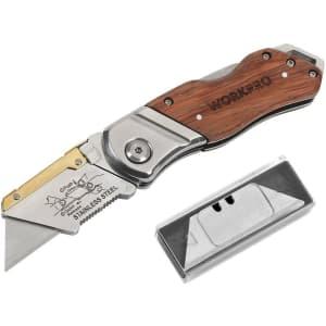 WorkPro Folding Utility Knife for $16