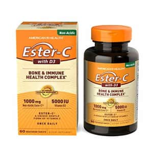 American Health Ester-C with D3 Bone & Immune Health Complex Vegetarian Tablets - 24-Hour Immune for $17