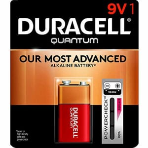 Duracell - Quantum 9V Alkaline Batteries - long lasting, all-purpose 9 Volt battery for household for $7