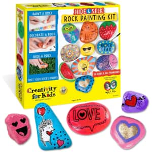 Creativity for Kids Hide & Seek Rock Painting Kit for $13