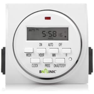 BN-LINK 7-Day 2-Outlet Plug-in Timer for $13