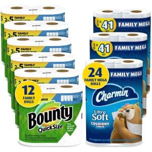 Charmin & Bounty Family Bundle for $50