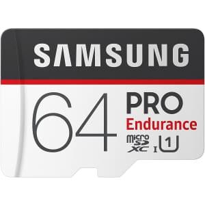 Samsung Pro Endurance 64GB UHS-I micro SD Card for $34