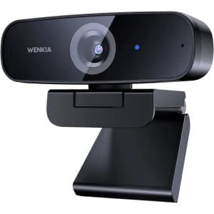 Wenkia 1080p Webcam w/ Dual Stereo Mics for $34