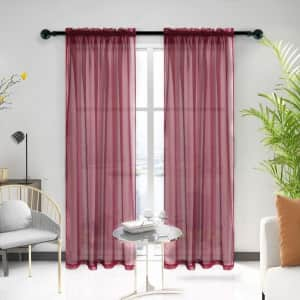 Lofus Sheer Voile Curtain 2-Pack from $4.79
