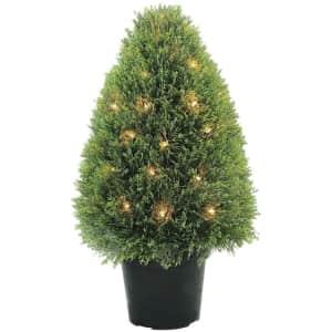 "National Tree Company 30"" Artificial Pre-Lit Juniper Tree for $97"