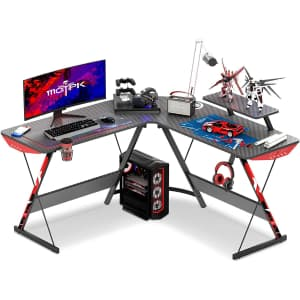 "Motpk 51"" L-Shaped Gaming Desk for $90"