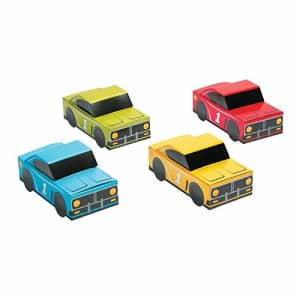 Fun Express Race Car Shaped Favor Box - Set of 12 Treat Boxes - Cars Birthday Party Supplies for $16