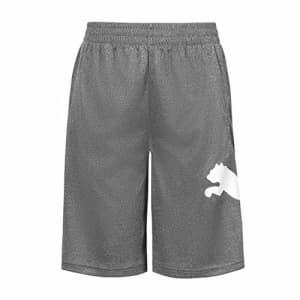 PUMA Boys' Speed Performance Athletic Short, Charcoal Heather/Grey, XLarge (18-20) for $21