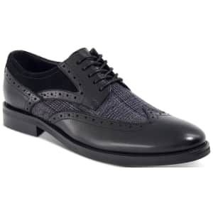 Bar III Men's Oliver Mixed Wingtip Oxfords for $34