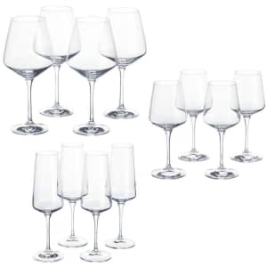 Home Decorators Collection Genoa Crystal Wine and Champagne Glass 12-Pack for $48