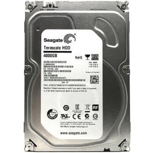 "Seagate Terascale 4TB Serial ATA 6Gbps 3.5"" NAS Internal Hard Drive for $60"