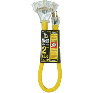 Yellow Jacket 3-Outlet Lighted 2-Foot Extension Cord for $13