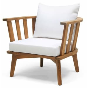 Christopher Knight Home Solano Outdoor Wooden Club Chair for $225