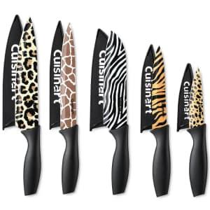 Cuisinart 10-Piece Animal Print Knife Set for $15