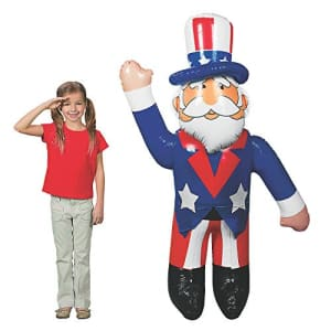 Fun Express Large Inflatable Uncle Sam (Over 5 feet Tall) Fourth of July, Memorial Day Decor and USA Patriotic for $23