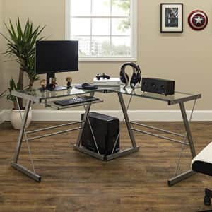 Walker Edison Ellis Soreno Glass Top Gaming Desk for $81
