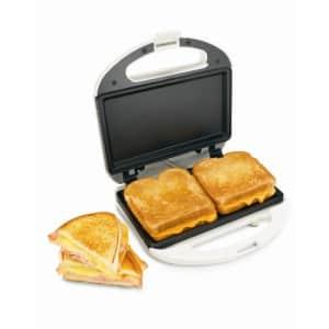 Hamilton Beach Proctor-Silex Sandwich Maker white for $24