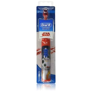 Oral-B Kids Battery Powered Electric Toothbrush Featuring Disney STAR WARS with Extra Soft for $5