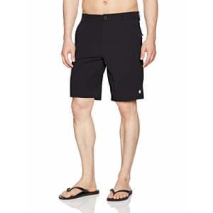 "Rip Curl Men's Mf Global Entry 20"" Boardwalk Hybrid Travel Stretch Shorts, Black 4K, 28 for $58"