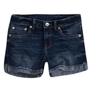 Levi's Girls' Little Denim Shorty Shorts, Atomic, 6X for $19