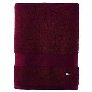 Tommy Hilfiger Modern American Bath Towel, 30 x 54 inch, Tawny Port for $7