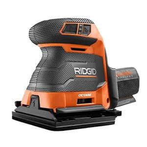 Ridgid 18-Volt OCTANE Cordless Brushless 3-Speed 1/4 Sheet Sander - Bare Tool, R86064B, (Bulk for $84