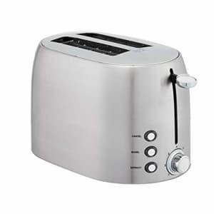 Amazon Basics 2-Slot Toaster, Brushed Silver for $33
