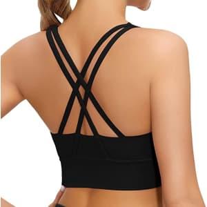 Lykoxa Women's Strappy Sports Bra for $8
