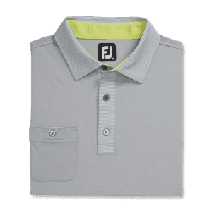 FootJoy Men's Lisle Self Collar Shirt for $50