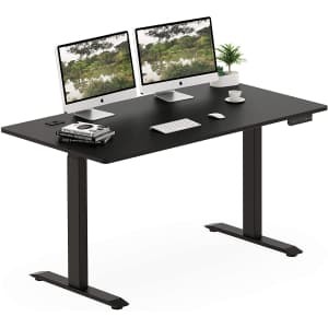 SHW Electric Height Adjustable Computer Desk for $289