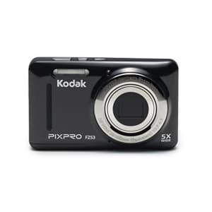 """Kodak PIXPRO Friendly Zoom FZ53-BK 16MP Digital Camera with 5X Optical Zoom and 2.7"""" LCD Screen for $79"""