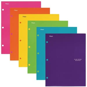 Five Star 4 Pocket Folder for $1