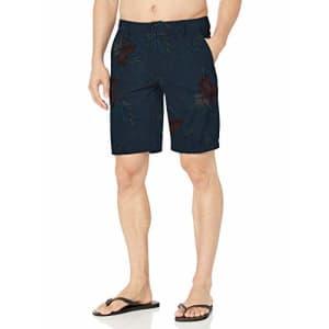 "Rip Curl Men's Jungle 20"" Boardwalk Hybrid Shorts, Navy, 30 for $32"