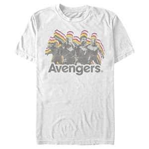 Marvel Men's T-Shirt, White, Small for $7