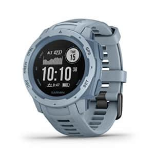 Garmin Instinct, Rugged Outdoor Watch with GPS, Features GLONASS and Galileo, Heart Rate Monitoring for $260
