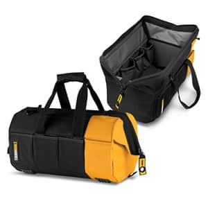 "ToughBuilt - 16"" Massive Mouth Tool Bag   38 Pockets & Loops, Heavy-duty, Rigid Hard Body Lining, for $51"
