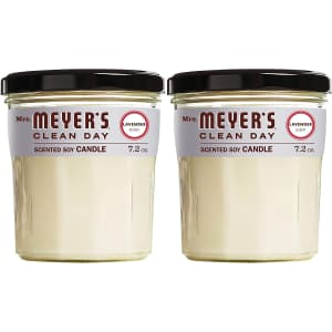 Mrs. Meyer's Soy Aromatherapy 7.2-oz. Jar Candle 2-Pk. for $18