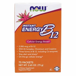 Now Foods NOW Supplements, Instant Energy B-12 (2,000 mcg of B-12 per packet), Cellular Energy Boost*, 75 for $14