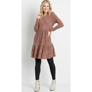Maurices Women's Cozy Babydoll Mini Dress for $11