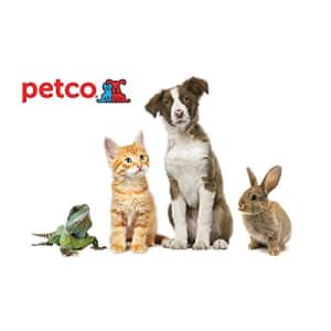 $20 Gift Card at Petco: for $20 Gift Card w/ $50 order