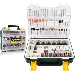 Popoman 313-Piece Rotary Tool Bit Kit for $14