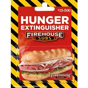 $50 Firehouse Subs Gift Card for $50 w/ free $10 Amazon credit
