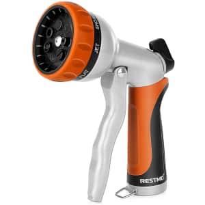 Restmo Adjustable Spray Garden Hose Nozzle for $14