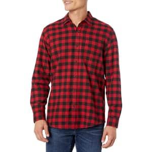 Amazon Essentials Men's Plaid Flannel Shirt for $13