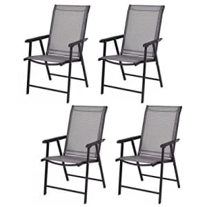 Giantex 4-Pack Patio Folding Chairs Portable for Outdoor Camping, Beach, Deck Dining Chair for $250