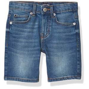 Calvin Klein Boys' Stretch Denim Short, Houston Mid Blue, 16 for $33